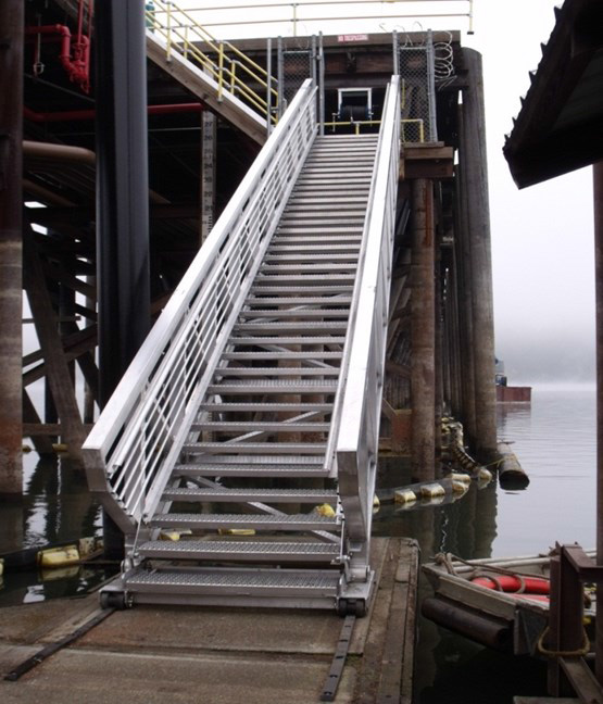 Self Leveling Stairs : Marine gangways deckerpetro
